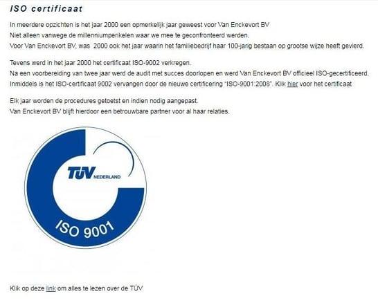 Certificaat promoten